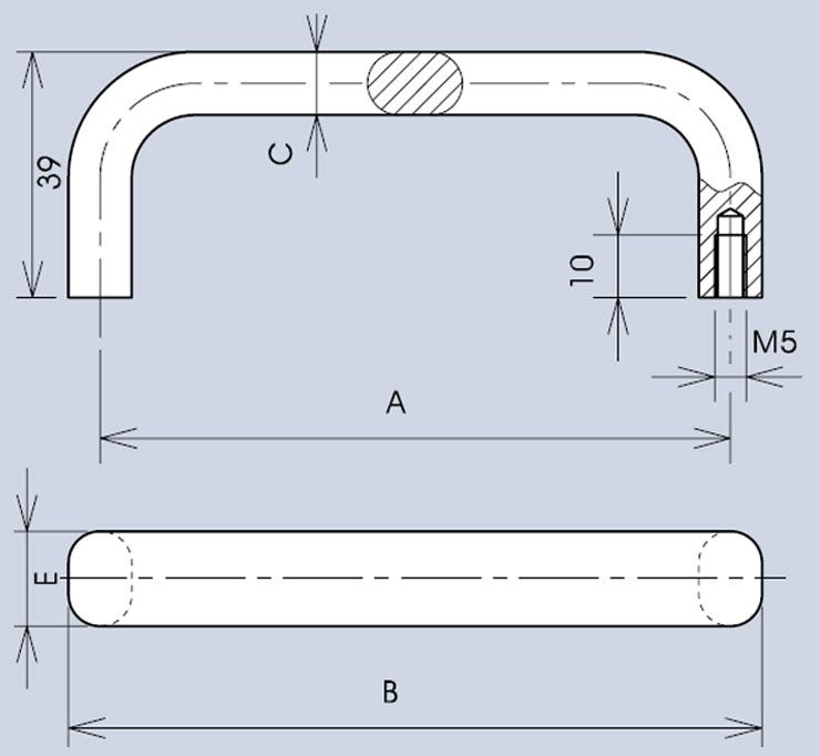 Handle 3477 dimensions diagram