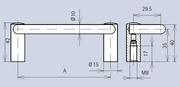 Handle 3405 dimensions diagram