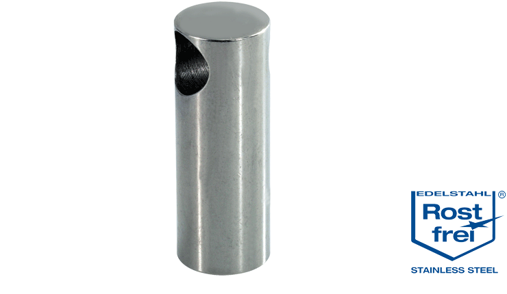 Stainless steel handle system end support
