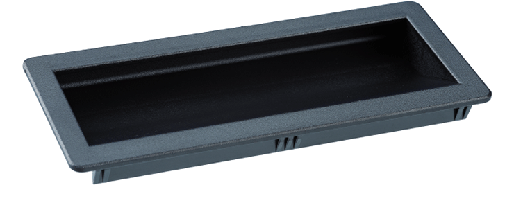 Clip-in recessed tray handles - 1.5mm - 2.0mm