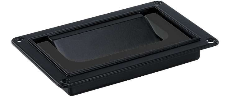 Front- or rear- mounted collapsible plastic handle