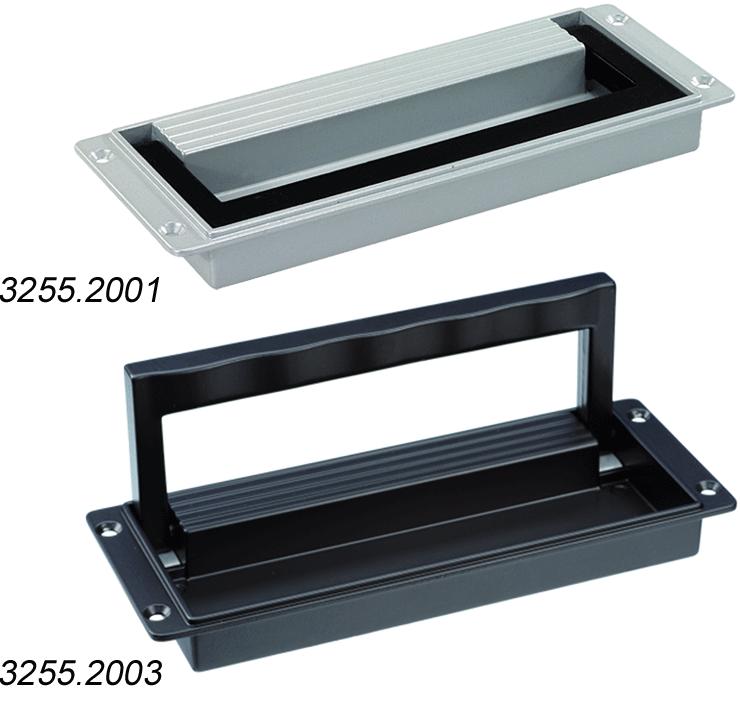 Wide collapsible aluminium handles, non-slip design