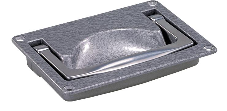 Heavy-duty folding aluminium handles
