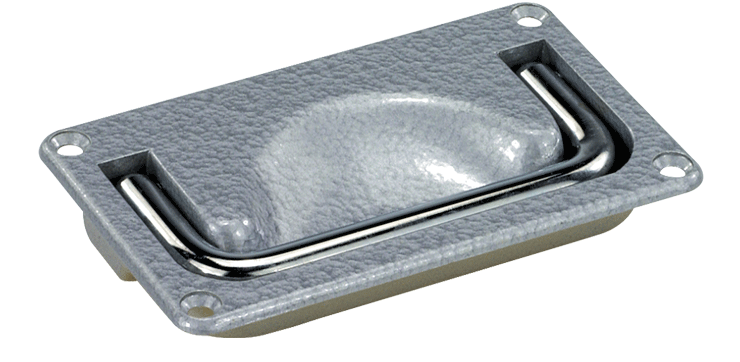 Heavy-duty folding chrome-aluminium tray handles