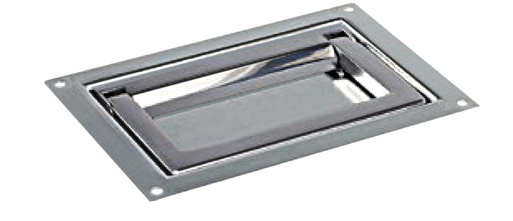 Heavy-duty zinc-plated steel folding tray handles