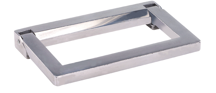Heavy-duty zinc-plated steel folding handles - no tray