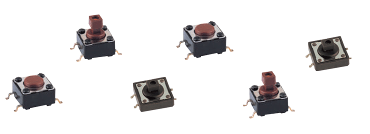 Top-button SMD switches