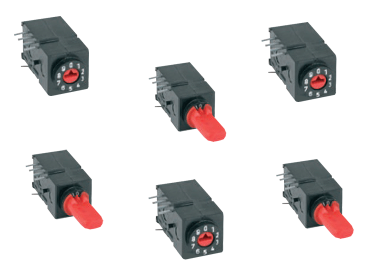 THT binary coated rotary switches