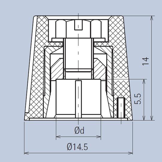 Matt Black Plastic Knob System Diagram