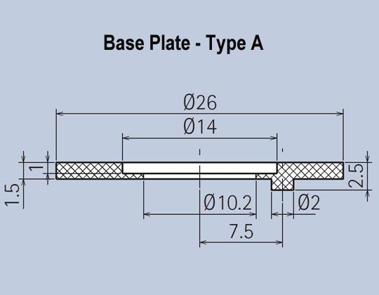 Knob Base Plates Black Matt Knob System