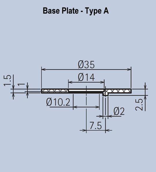Knob Base Plates for Aluminium Knob System