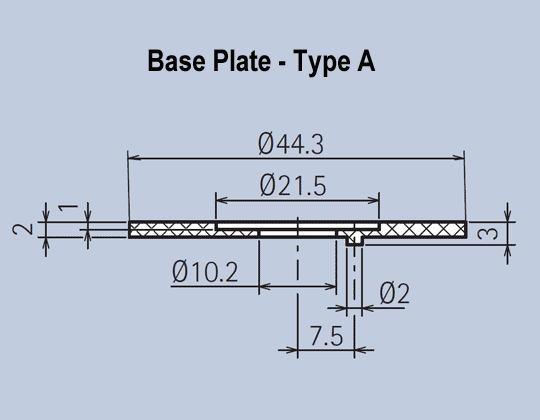 Aluminium Knob System Base Plates