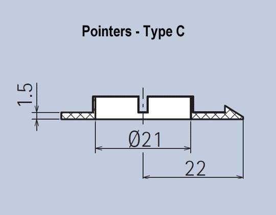 Aluminium Knob Pointer System Accessories