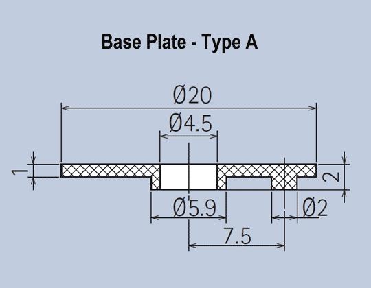 Plastic Knob System Base Plates