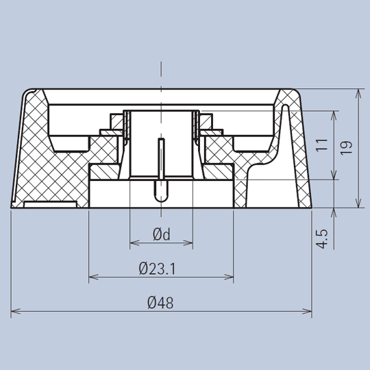 Plastic Gloss Knob System diagram