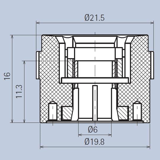 Plastic Knob Grip-Ring System diagram