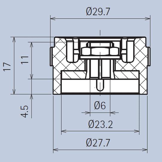 Grip-Ring Plastic Knob System diagram