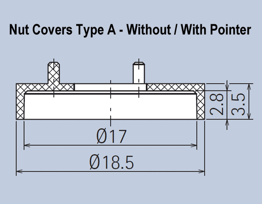 Nut Covers with and without Pointers
