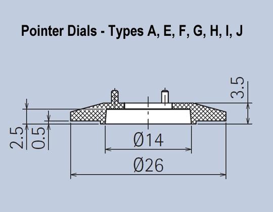 Pointer Dials Matt Knob System