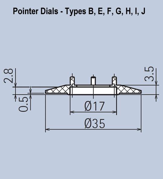 Pointer Dials for Aluminium Knob System