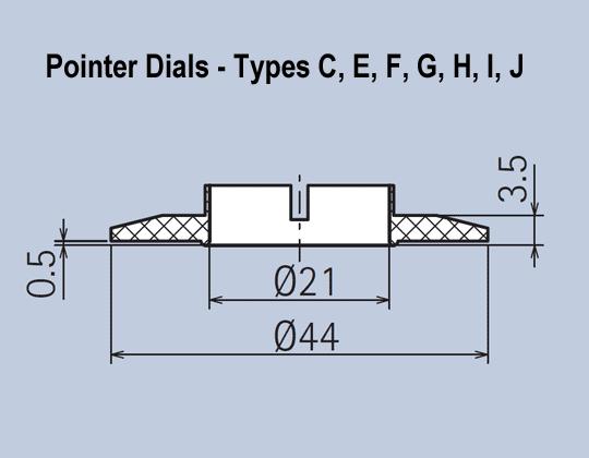 Matt Knob System Pointer Dials