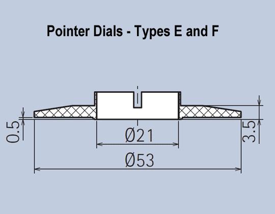 Matt Knob Grip Ring System Pointer Dials