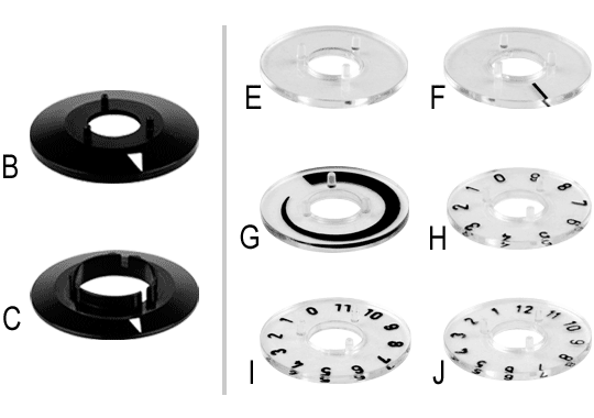 Knob System Aluminium Pointer Dials