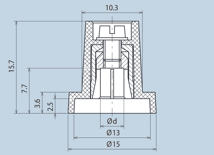 Plastic Wing Knob
