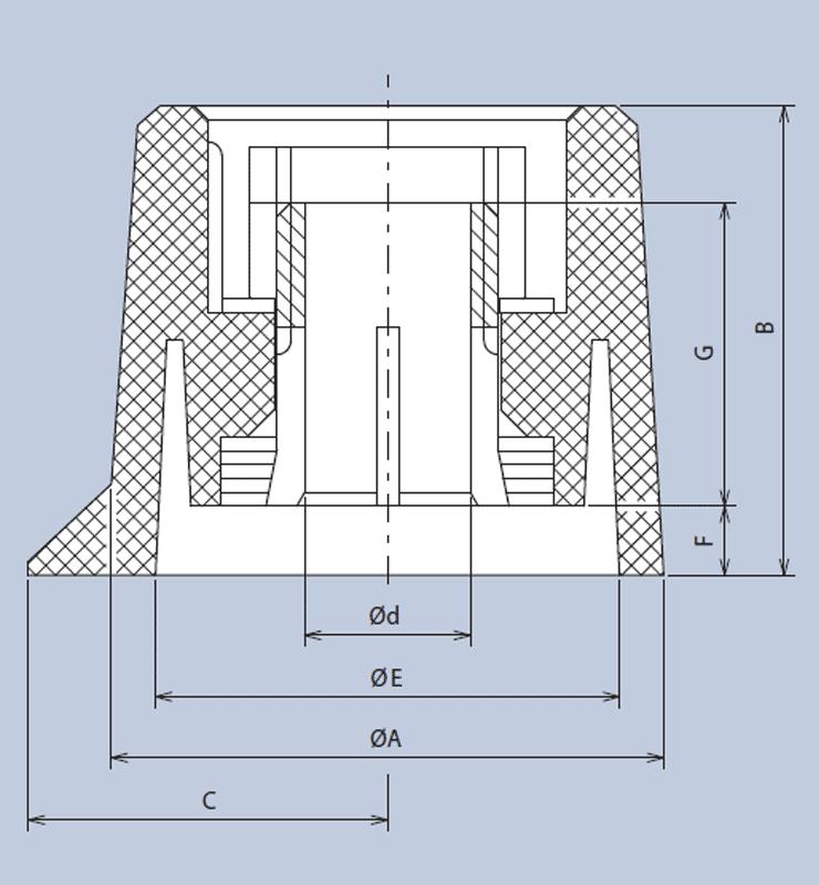 Mentor 4311.6131 Plastic Turning Knob Matt With Collet Fixing Ø20mm Black