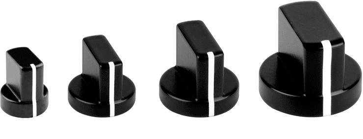 Aluminium Wing Knob Black Powder Coated
