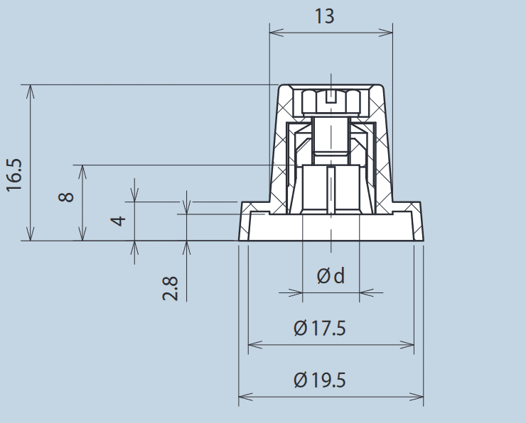 Plastic Wing Knob with Collett Fixing