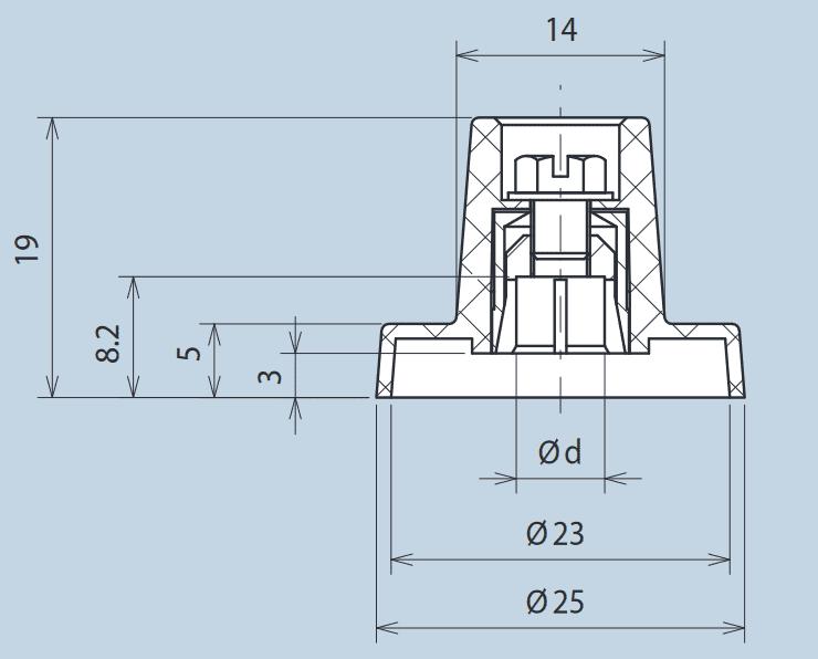 Plastic Wing Knob with Indicator Line