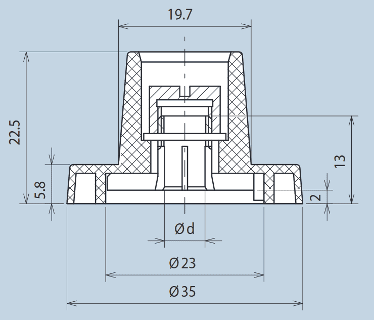 Wing Knob Plastic