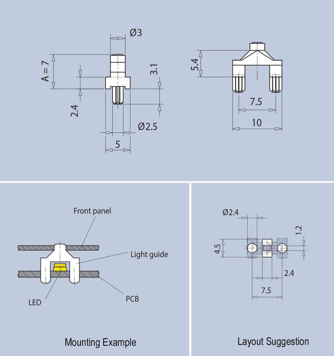 Short Vertical Light Guide