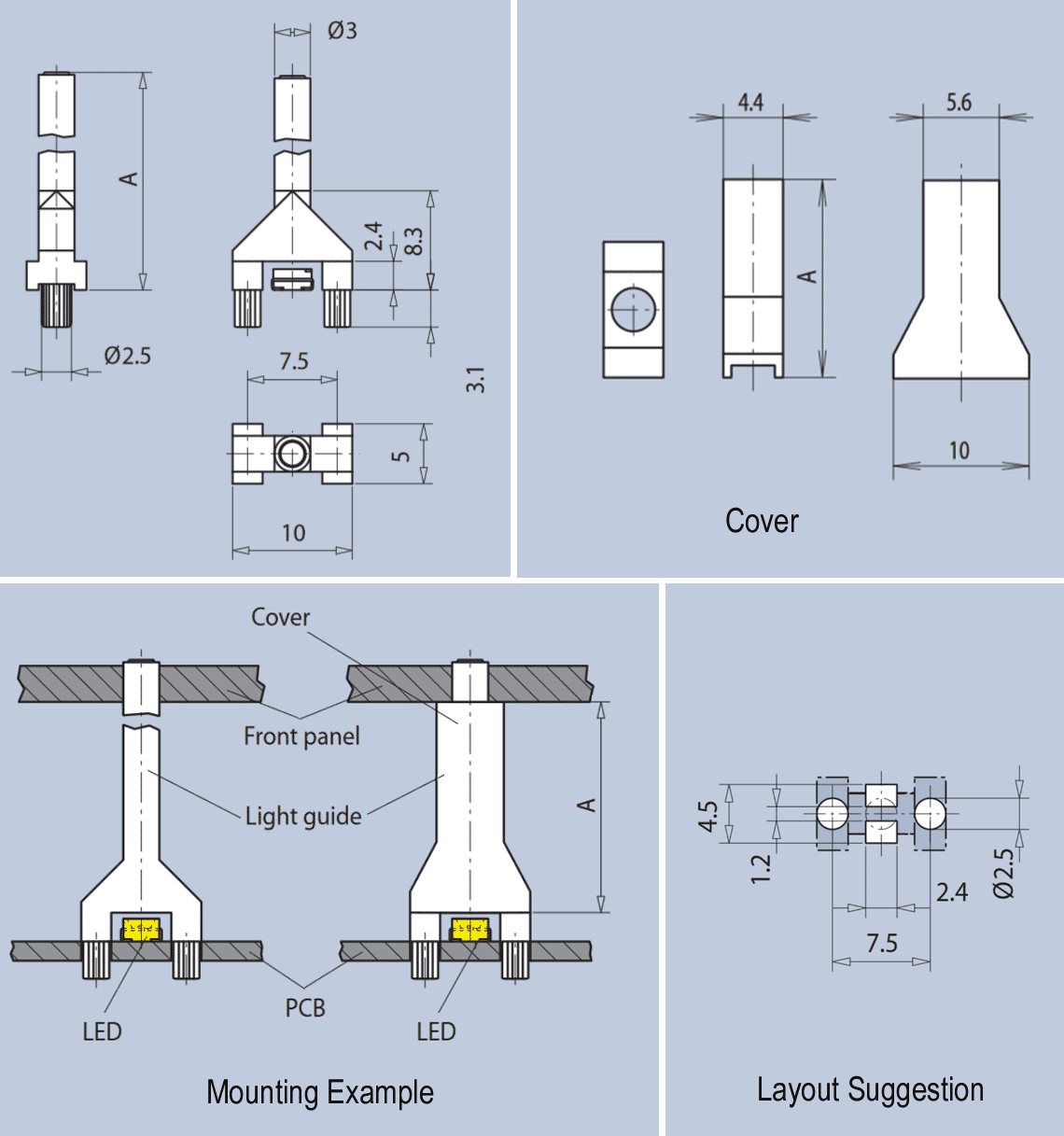 Veriical Light Guide