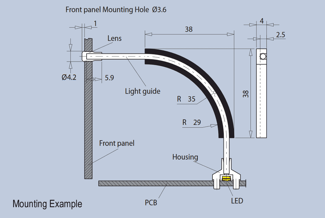 Light Guide Angle Holder