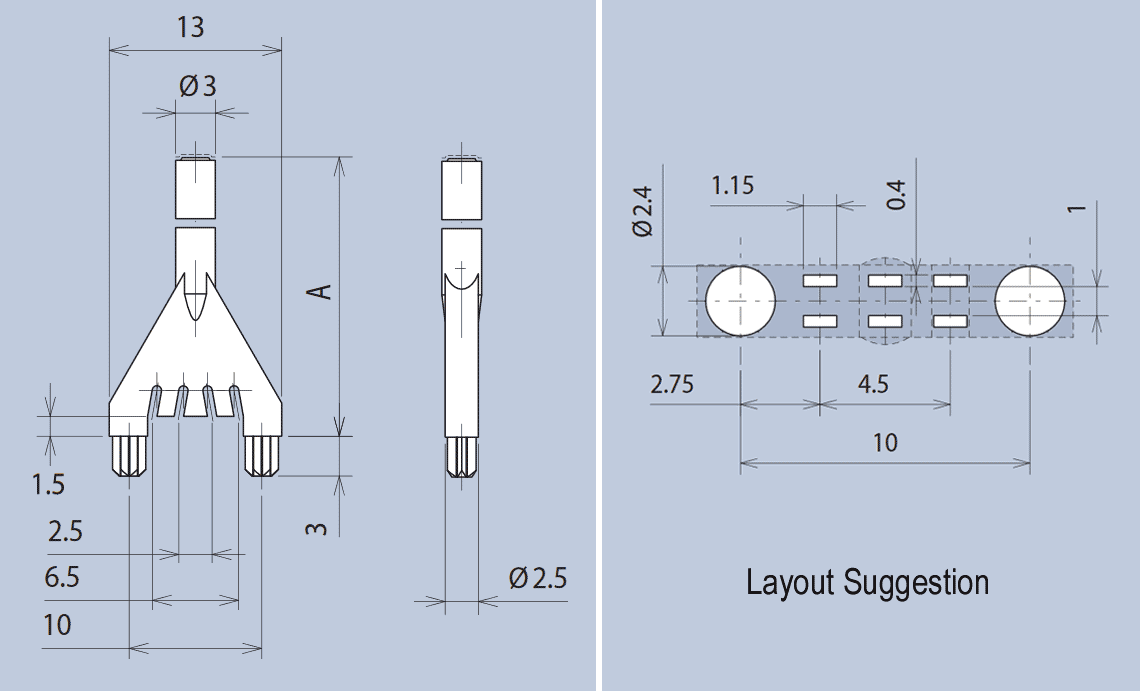 Vertical Single Switch Light Guide