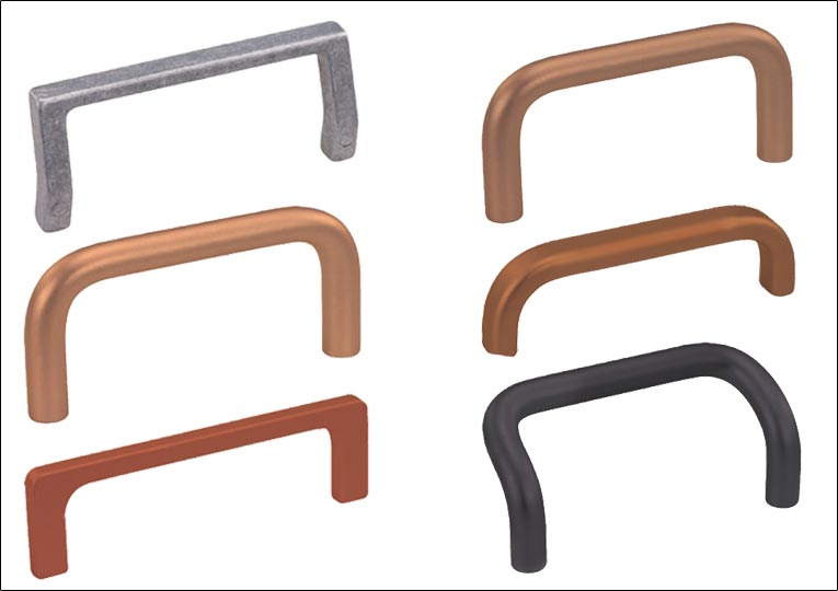 Coloured Aluminium Handles